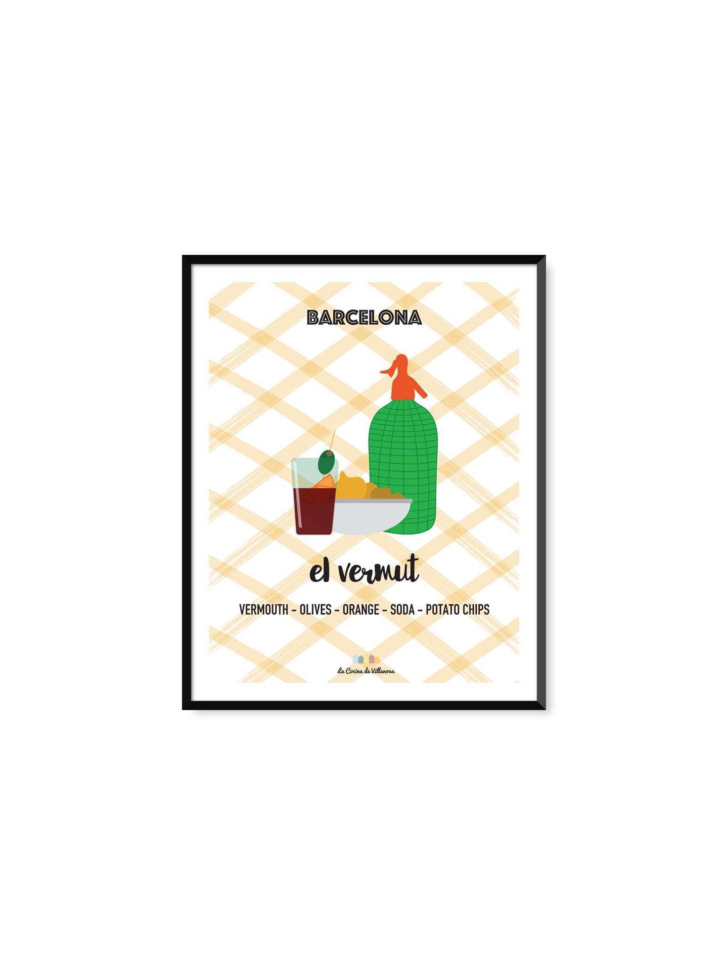 """Poster """"El vermut"""" Barcelona Recipes – 21 x 29,7 cm"""