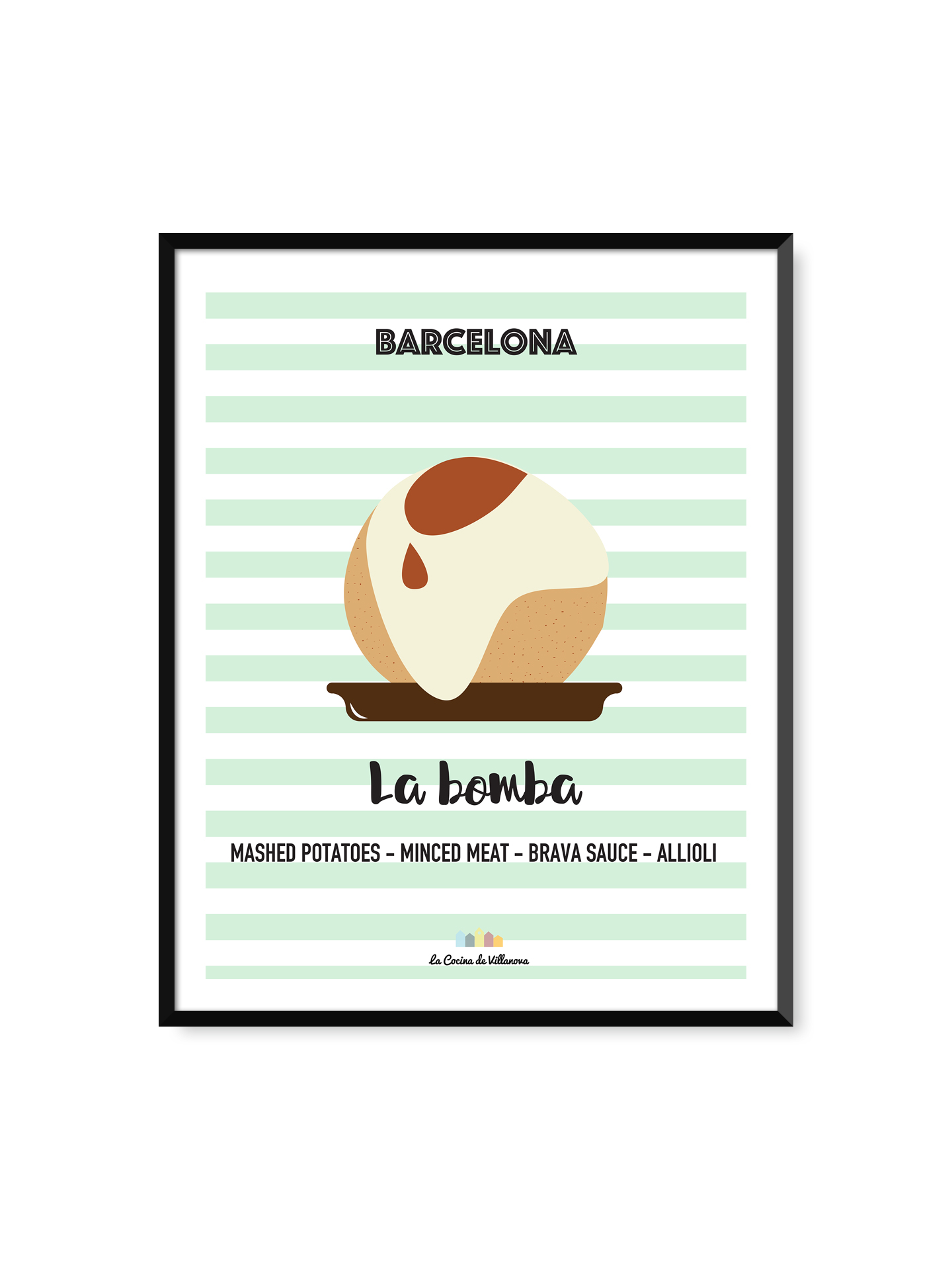 "Poster ""La bomba"" Barcelona Recipes- 30 x 40 cm"
