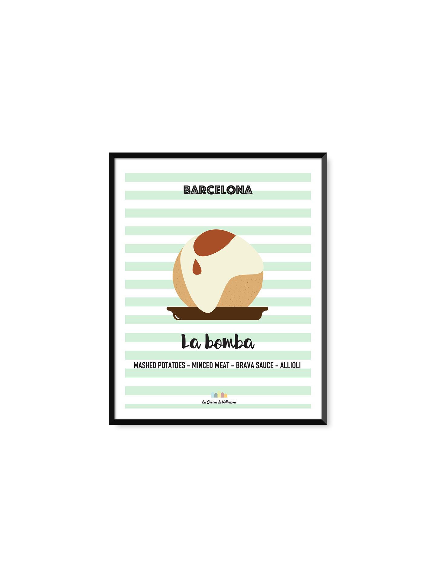 "Poster ""La Bomba"" Barcelona Recipes – 21 x 29,7 cm"